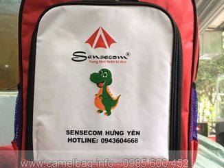 Sản xuất balo trung tâm ngoại ngữ Sensecom
