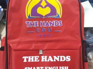 Sản xuất balo anh ngữ quà tặng Hands