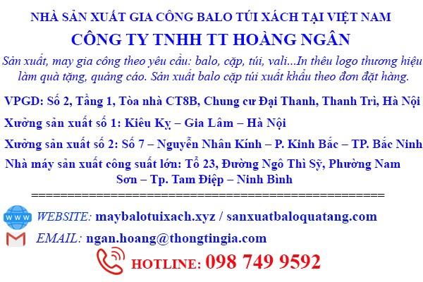 Công ty sản xuất balo tại Hà Nội