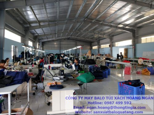 Nhà máy sản xuất balo tại Ninh Bình